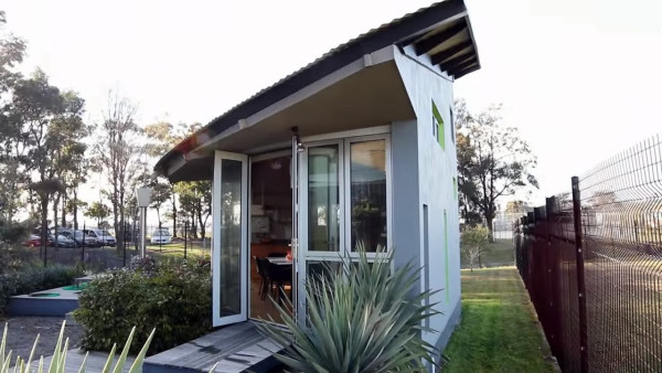 modern tiny cabin and a two story pop up tiny house - Two Story Tiny House