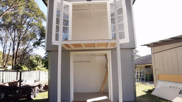two story pop up tiny house 007 - Two Story Tiny House