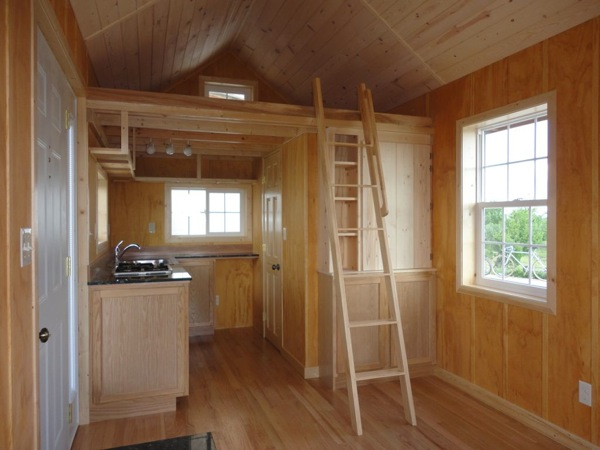 Father and son create amazing 200 sq ft tiny cabin for for How to build a small cabin with a loft