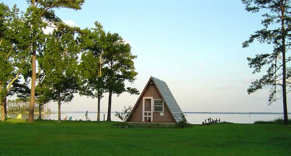 waterfront a frame tiny house   Top 6 A Frame Tiny Houses