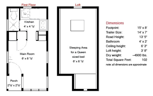 Weebee tiny house plans Tiny house floor plans on wheels