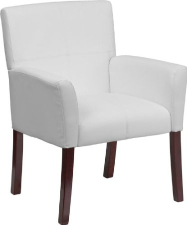 White Leather Arm Chair
