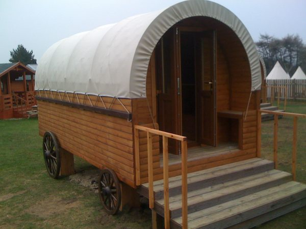 wild west gypsy wagon microlodge 01   Tiny Houses from Microlodge UK