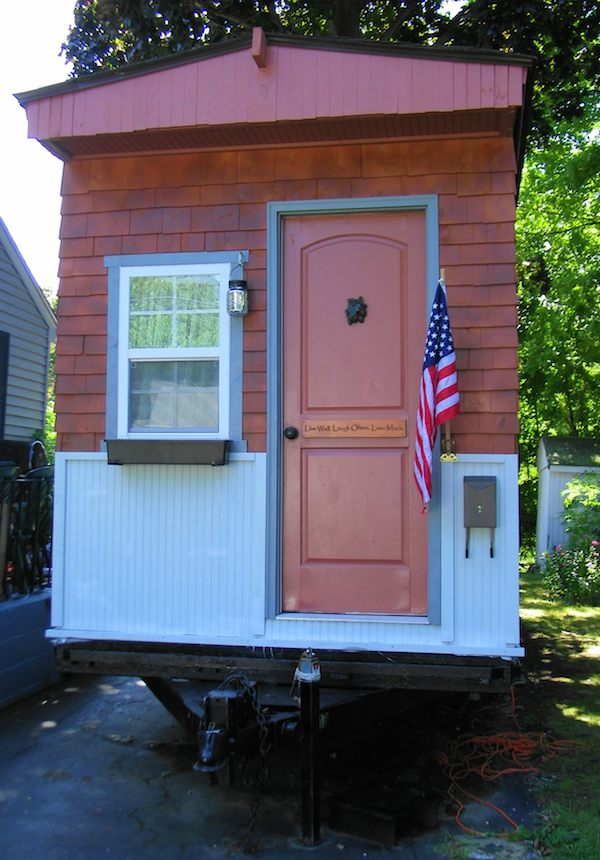 Tiny House Talk : Tiny House Talk — Woman in her 50s Builds her own Debt-free Tiny ...