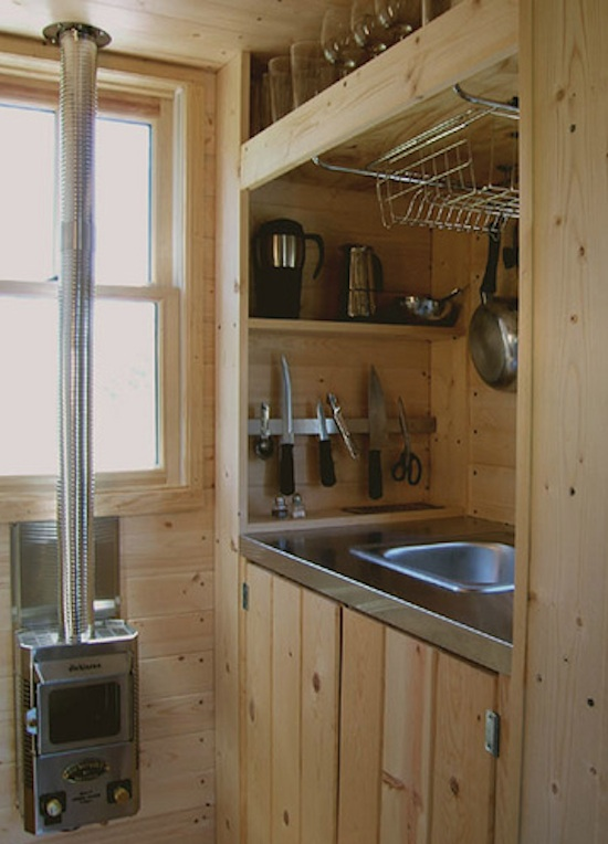 Tiny House's Kitchen Area - Designed by Tumbleweed Houses