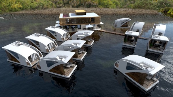 Modern Catamaran Houseboat - Modern custom houseboat graphics