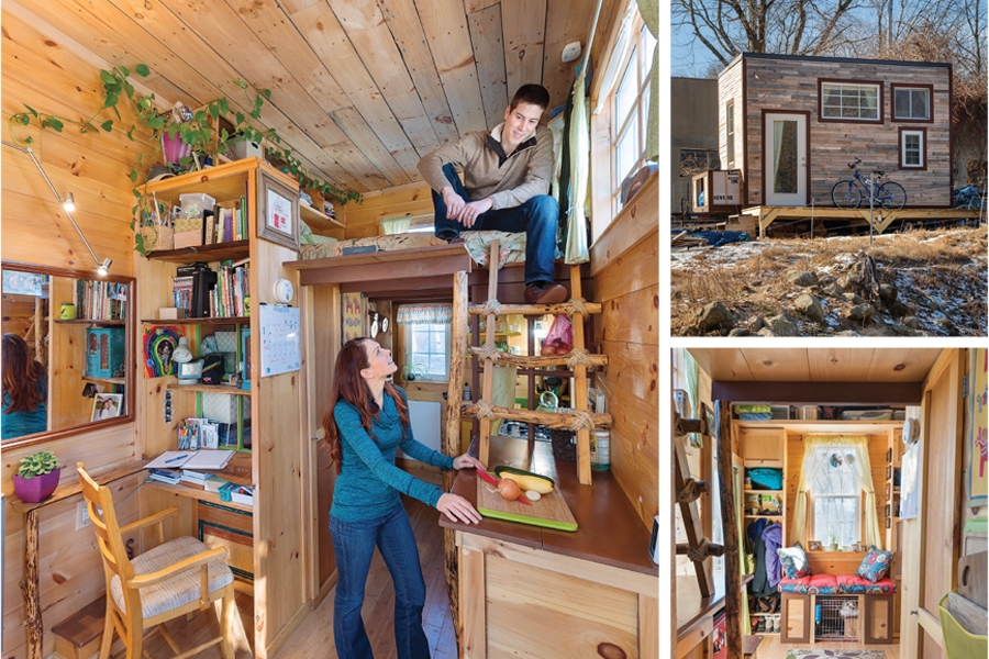 Young Couple Living In Tiny House on Living In 600 Sq Ft