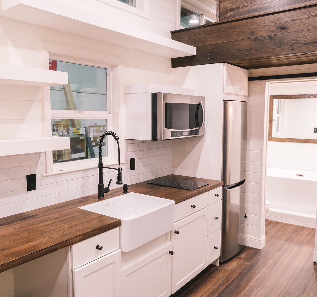 10-Foot Wide Tiny House with Amazing Bathroom by California Tiny House