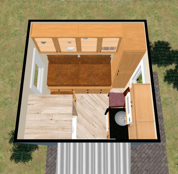 View from Above - Tiny House Floor Plan