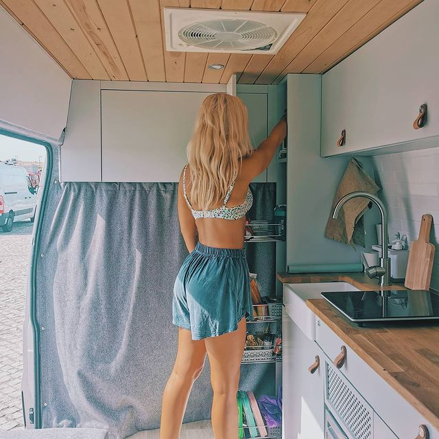 London Couple Travelling Europe in Their Van Conversion 123