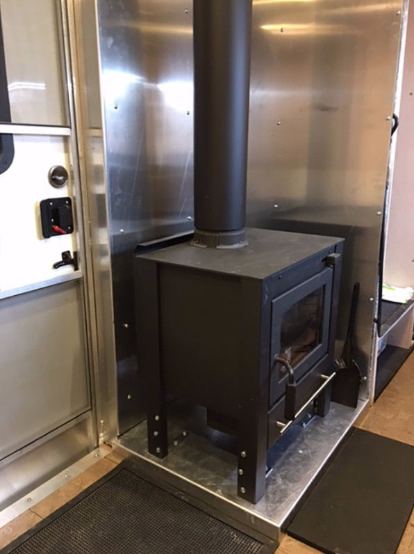 18ft Cargo Trailer Converted into Stealth Tiny House on Wheels For Sale 002