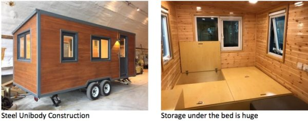 18ft Steel Frame Tiny House For Sale from ESCAPE