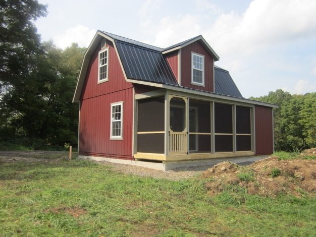 18'x24′ Two Story Dutch Cabin Shell with 6′ Porch