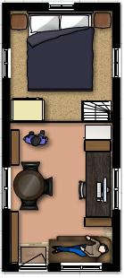 ... 19 X 18 Tiny House Floor Plan Loft