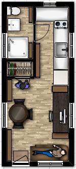 ... 19 X 18 Tiny House Floor Plan With  ...