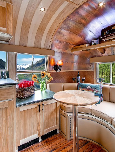 1954 airstream to tiny cabin