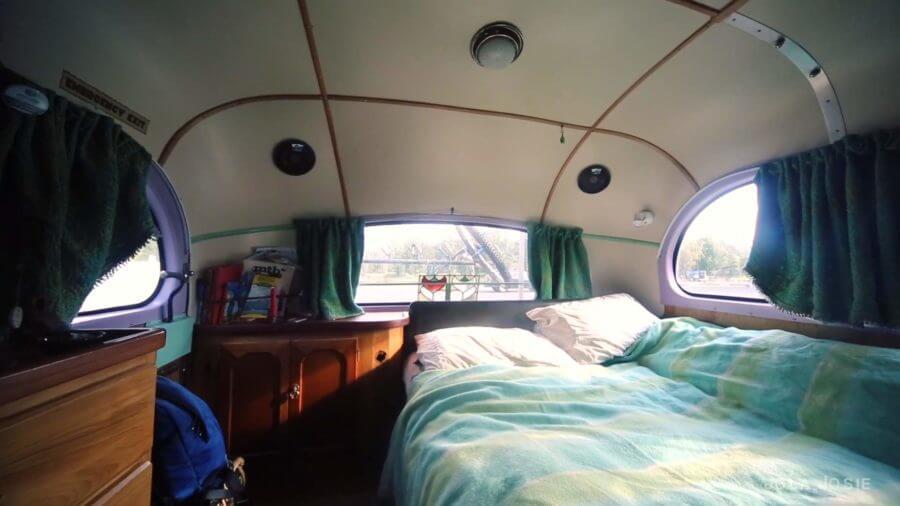 1960 J4 Bedford Hous Bus Rolling Tiny Home Conversion via Jola Josie YouTube 004
