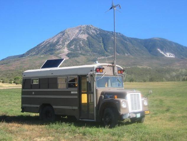 1977 Solar Wind Powered 4x4 School Bus Conversion
