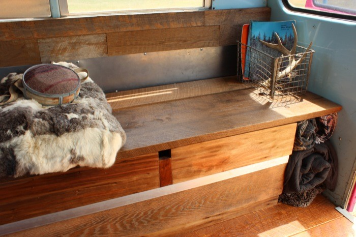 Students convert 1988 Ford E-350 short bus into rolling tiny home!