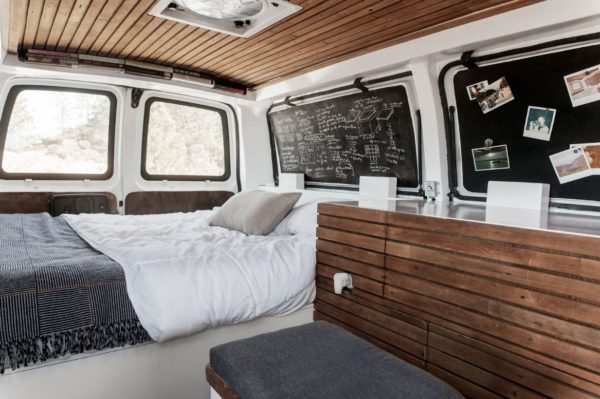23-Year-Old Filmmakers Cargo Van Tiny House 003