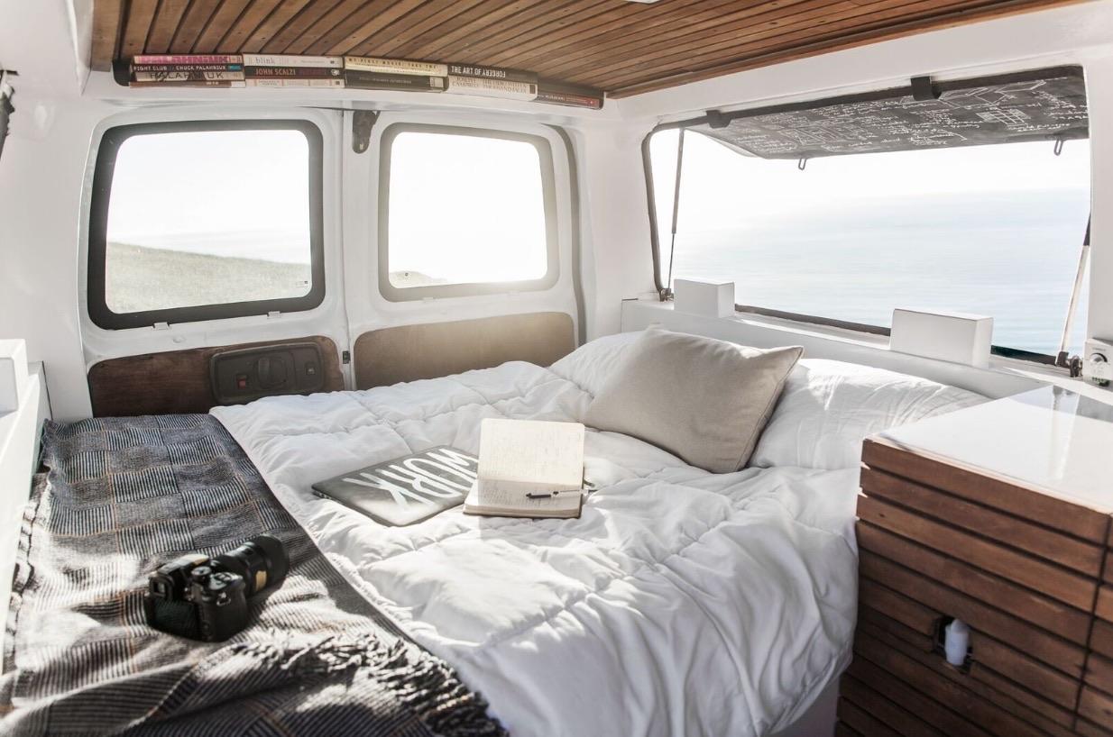 23-Year-Old Filmmaker\'s Cargo Van Tiny House