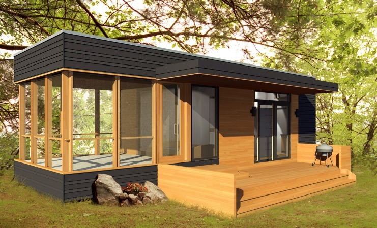 288 Sq Ft Solo 24 Bunkie Modern Prefab Tiny Home