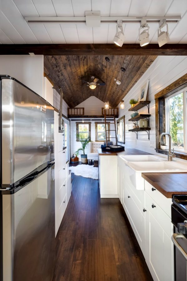 26ft Dark Wood Tiny House
