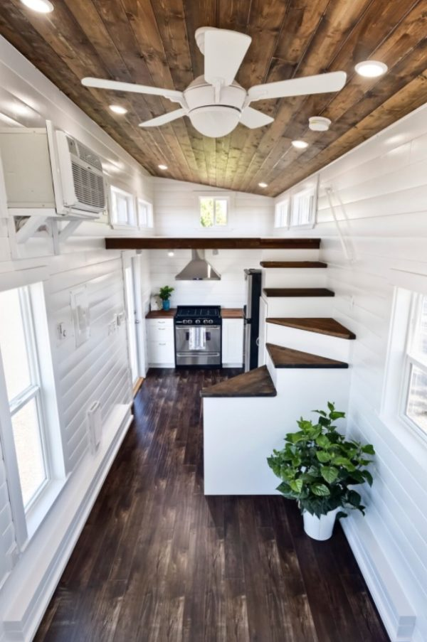 Metal Framed 28\' Tiny House on Wheels by Mint Tiny Homes