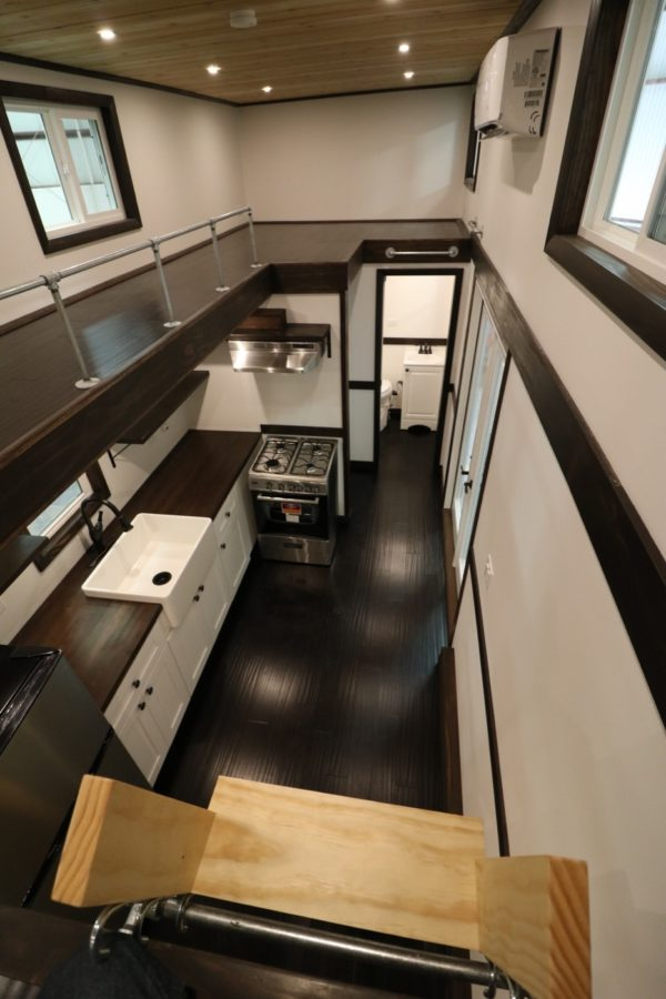 28ft Tiny House with 12ft Loft-to-Loft Catwalk by Titan Tiny Homes 008