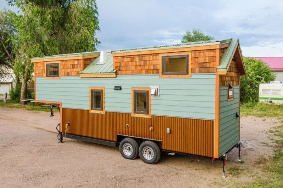 28ft by 8ft Gooseneck Tiny House by Mitchcraft Tiny Homes Carries THOW MitchcraftTinyHomes-com