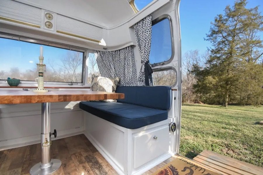 29-foot Airstream Ambassador vintage tiny house vacation on a farm in Winston-Salem 005