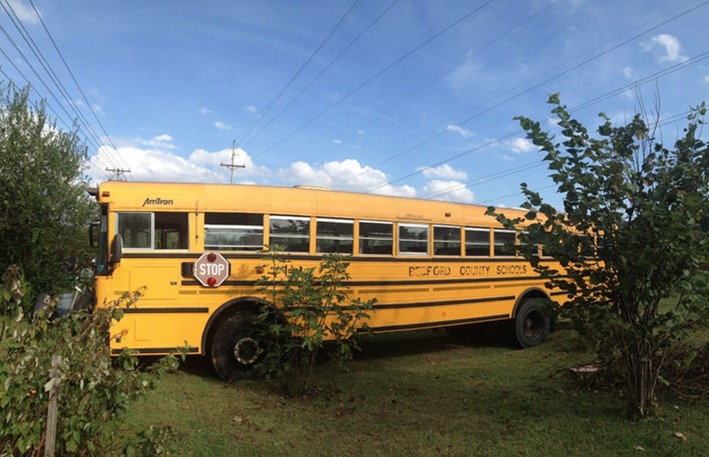 School Bus Converted To Home For Sale