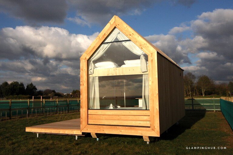 Eco-Friendly Tiny Cabin Escapade in Essex, England via Glamping Hub