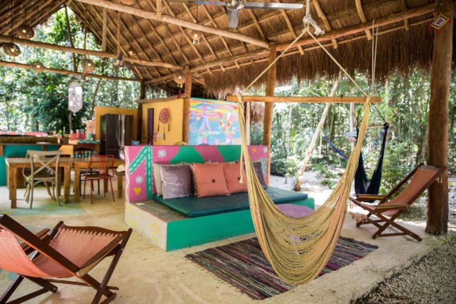Mayan Coba Hut in Tulum Jungle