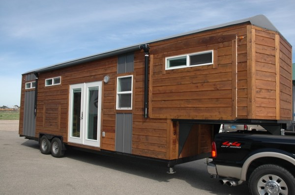 34' Gooseneck Tiny House with 3 Slide-Outs Sold for $66k