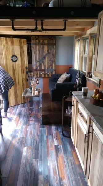 living room in tiny house