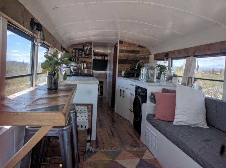 36-Foot Off-Grid School Bus Conversion in Seattle for $69,000