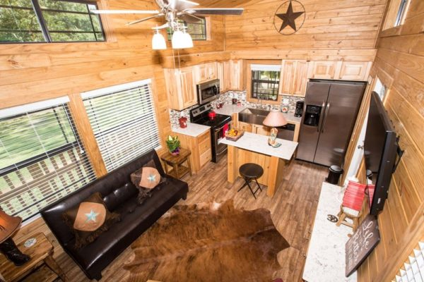 393sf Park Model Tiny Home on Waterfront Lot in Texas 002