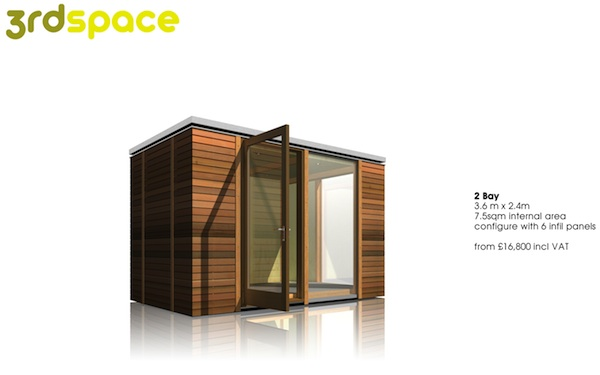3rdSpace - Modular Backyard Office Sheds - 2 Bays