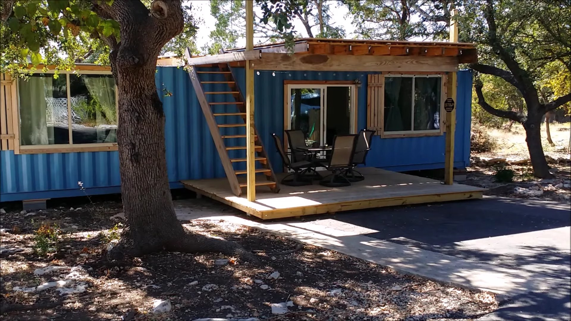 40u0027x8u0027 Shipping Container Tiny Home Built
