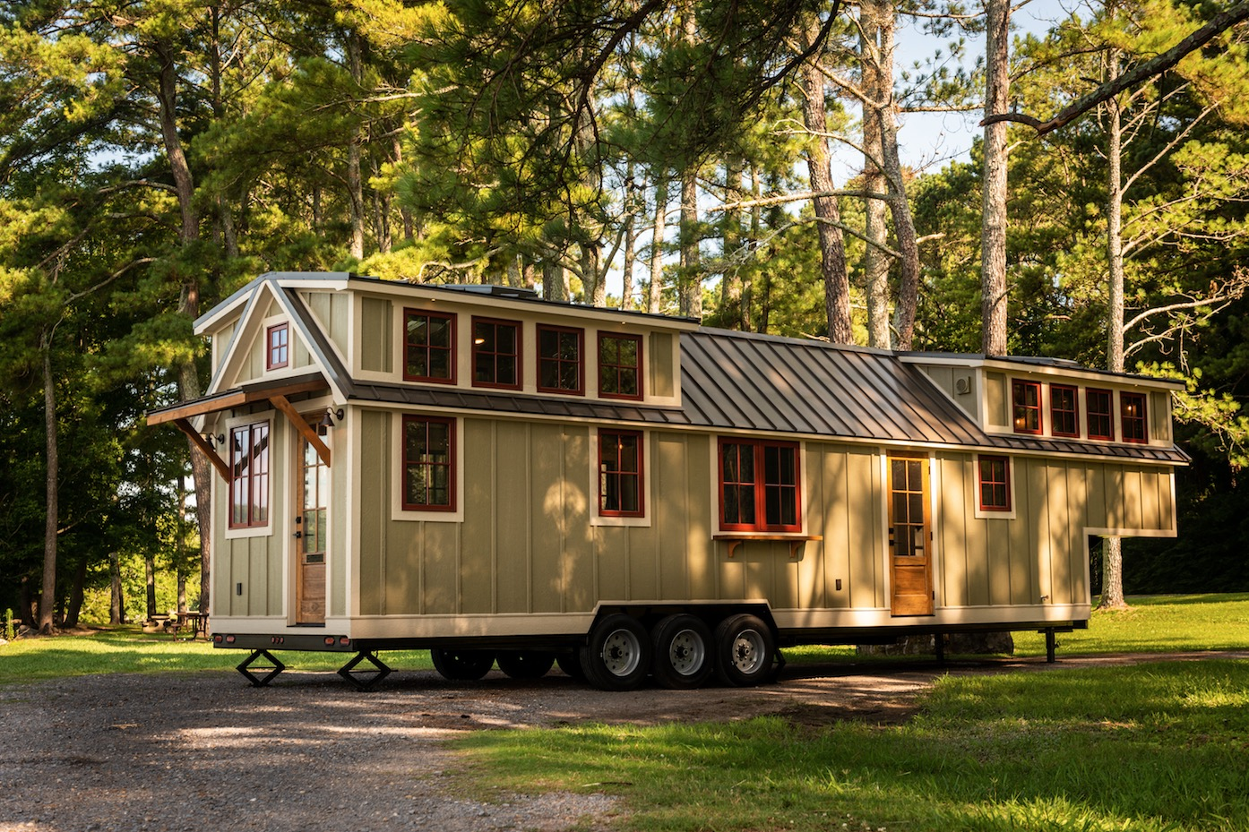 Tiny House Floor Plans Small Cabins Tiny Houses Small: Super Spacious 42-Foot Tiny Home On Wheels... The Denali