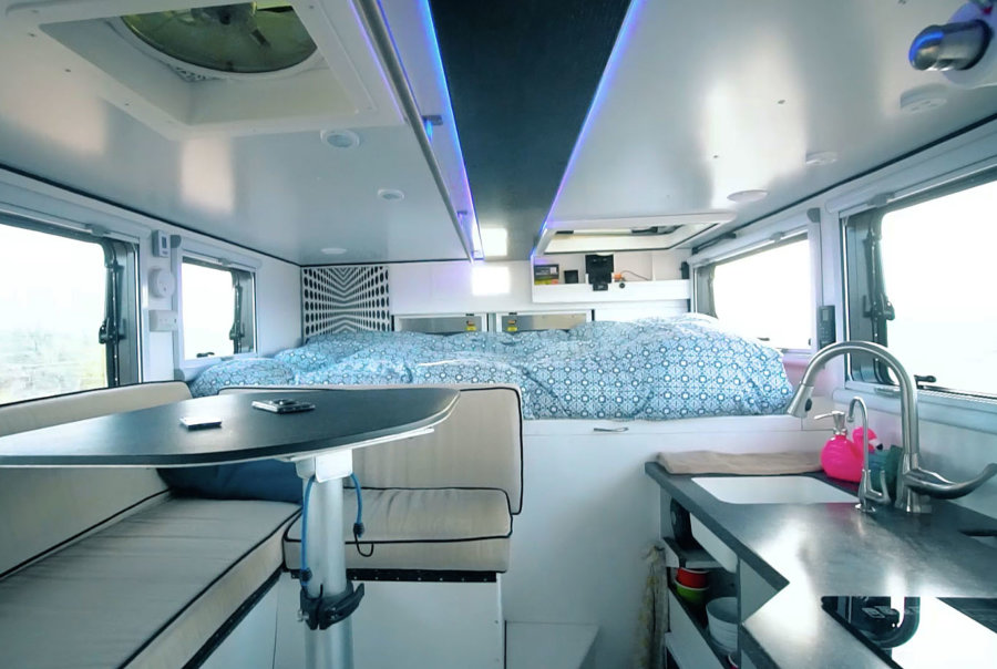 4×4 Ambulance Turned Off-Road Motorhome Tiny Home Called the LostBox via Tiny Home Tours YouTube 004