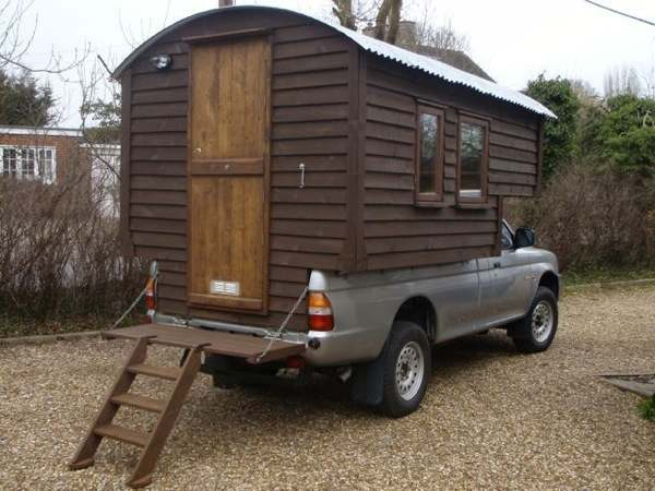 Handmade Micro Cabin Built on a 4x4 Diesel Truck For Sale