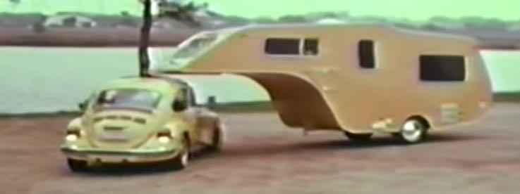 1974 Vw Beetle Towing A Custom 5th Wheel Camper