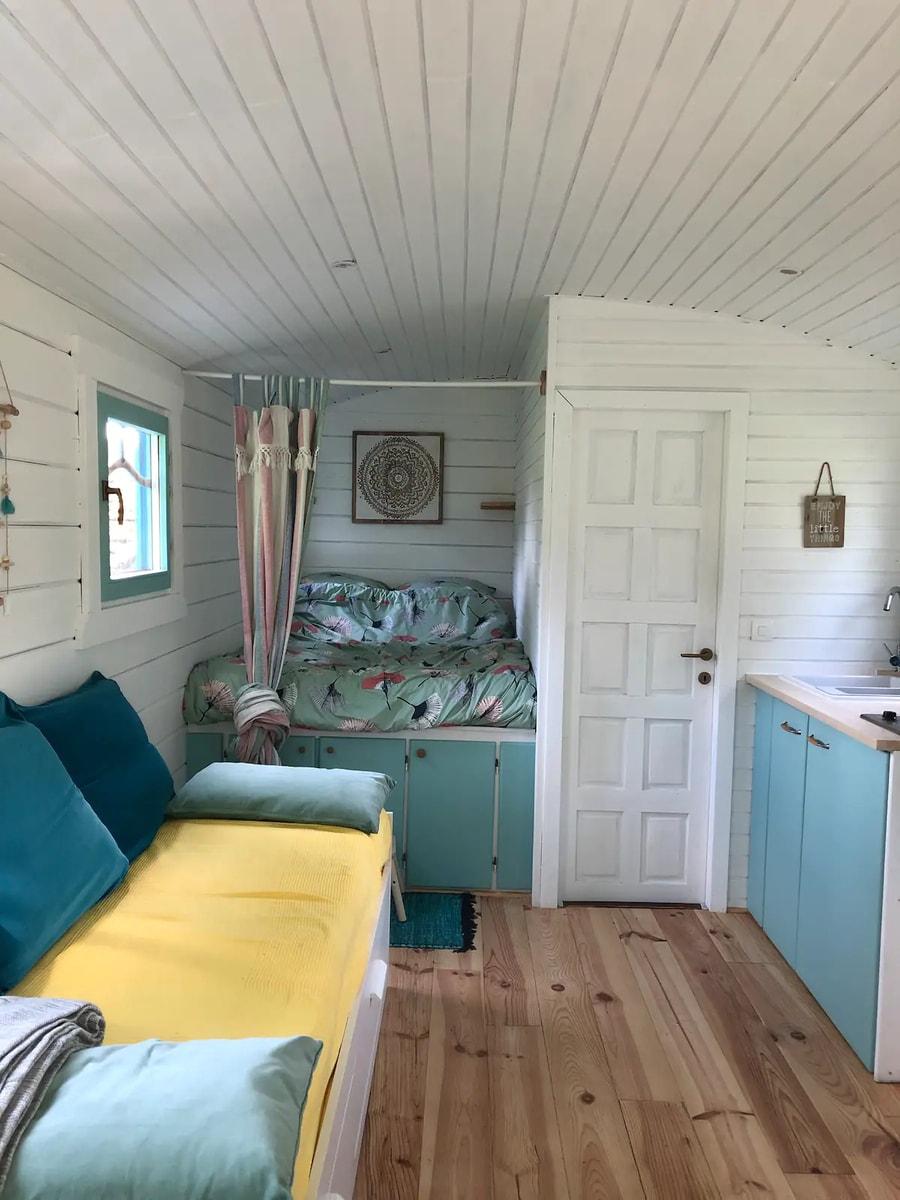 Evelyne's Charming Shepherd's Hut in France 12