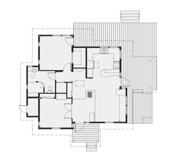 Small house that feels big 800 square feet dream home for Floor plans for 800 sq ft apartment