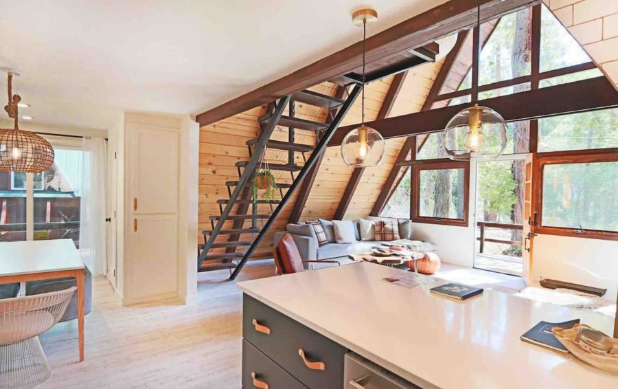 Tahoe A-frame Renovation with Mid-Century Charm 5