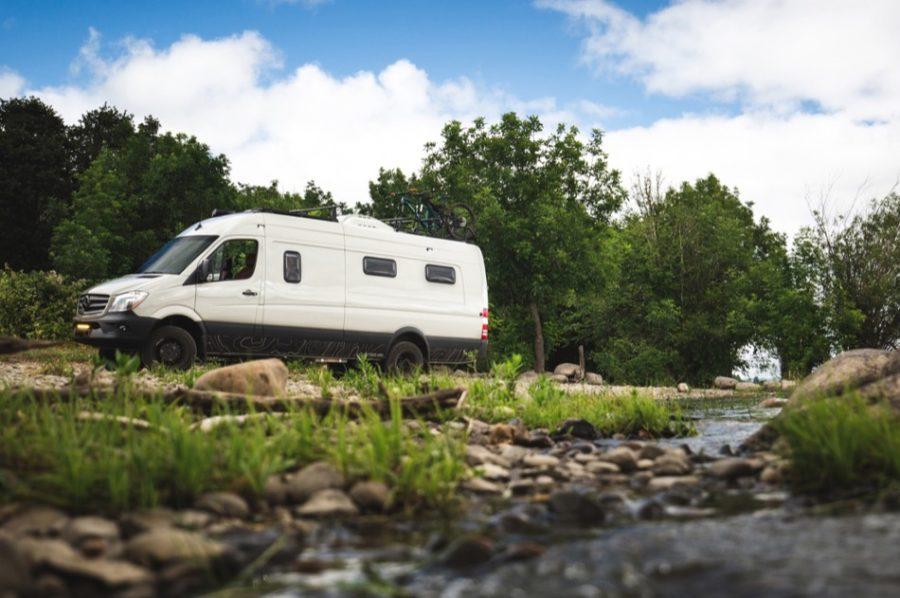 Amazing 4×4 Sprinter Van Conversion by Outside Van 0021
