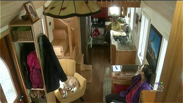 Amazing Tiny Home on Wheels with a Dog Elevator 02
