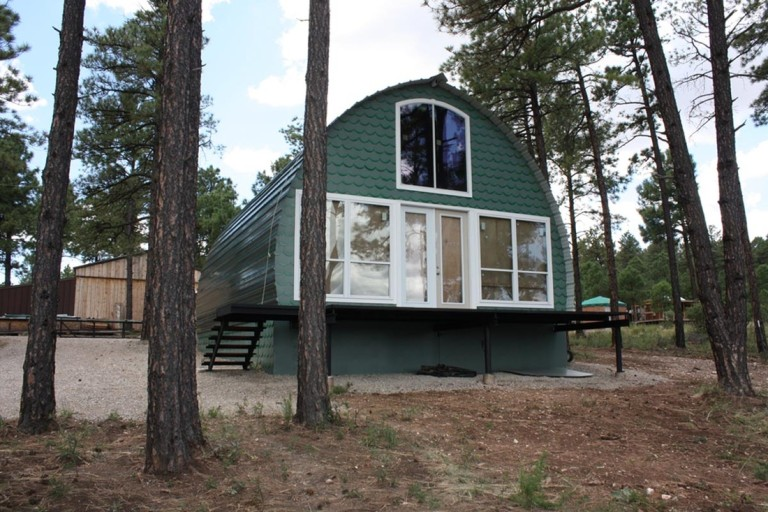 Tiny Home Designs: Spacious 24' X 32' Arched Cabin